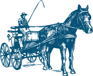 1848-1851: A horse-drawn carriage