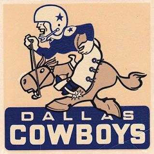 1960s: Vintage Dallas Cowboys logo
